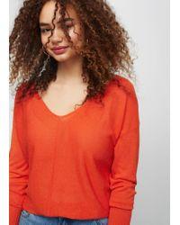 Violeta by Mango | Orange Fine-knit Cotton Sweater | Lyst