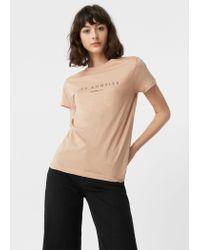Mango | Natural Cotton Modal-blend T-shirt | Lyst