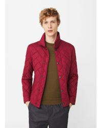 Mango | Red Pocket Quilted Jacket | Lyst