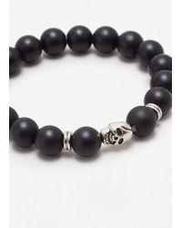 Mango | Black Contrast Bead Bracelet | Lyst