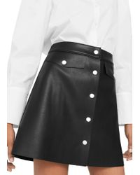 Mango | Black Button Skirt | Lyst