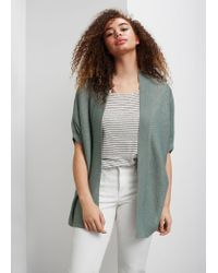 Violeta by Mango | Green Flecked Fine-knit Cardigan | Lyst