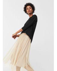 Mango | Black Cotton T-shirt | Lyst