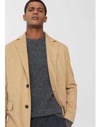 Mango | Brown Tailored Wool-blend Overcoat for Men | Lyst