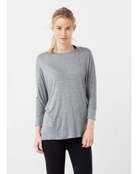 Mango | Gray Dolman Sleeve T-shirt | Lyst