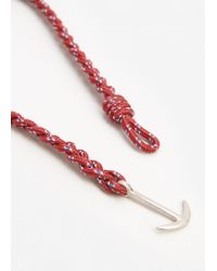 Mango | Red Metal Anchor Braided Bracelet | Lyst
