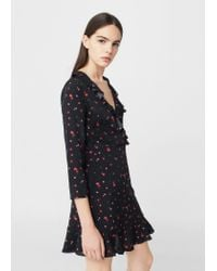Mango | Red Floral Pattern Dress | Lyst