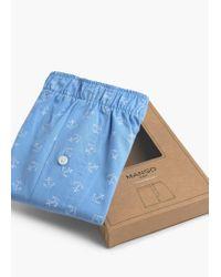 Mango | Blue Anchor Print Boxer Shorts for Men | Lyst