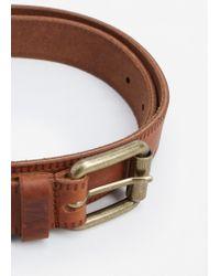 Mango | Brown Engraved Leather Belt | Lyst