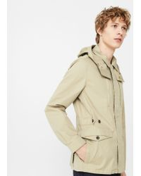 Mango | Natural Detachable Hood Jacket | Lyst