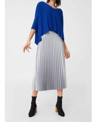 Mango | Blue V-neckline Sweater | Lyst