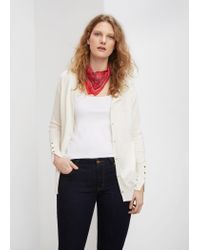 Violeta by Mango | Natural Decorative Buttons Cardigan | Lyst