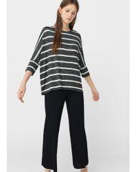 Mango | Gray Flecked T-shirt | Lyst