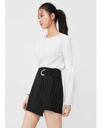 Mango | Black Buckle Wrap Skirt | Lyst