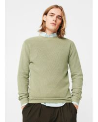 Mango - Natural Textured Cotton Sweater for Men - Lyst