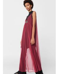Mango | Pink Sequin Tulle Dress | Lyst