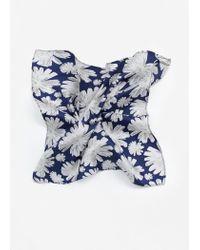 Mango | Blue Printed Silk Pocket Square for Men | Lyst