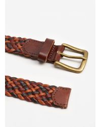 Mango | Brown Recycled Leather Braided Belt | Lyst