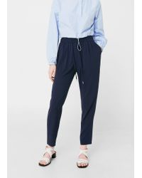 Mango | Blue Flowy Trousers | Lyst