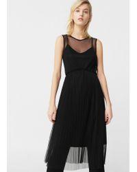 Mango | Black Tulle Skirt Dress | Lyst
