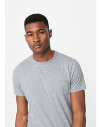 Mango | Gray Pocket Cotton T-shirt for Men | Lyst