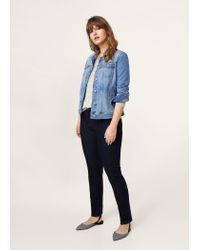 Violeta by Mango - Gray Lurex Stripes Sweater - Lyst