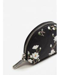 Mango - Black Printed Cosmetic Bag - Lyst