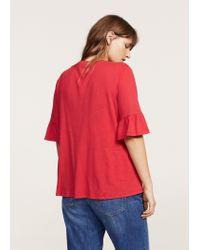 Violeta by Mango - Red T-shirt - Lyst