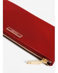 Mango - Red Satined Effect Cosmetic Bag - Lyst