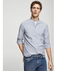 Mango - Blue Shirt for Men - Lyst