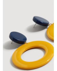 Mango - Multicolor Hoop Earrings - Lyst
