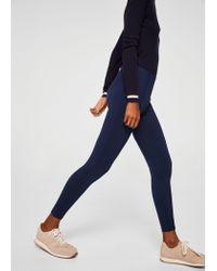 Mango - Blue Decorative Seam Leggings - Lyst