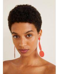 Mango - Red Mixed Pendant Earrings - Lyst