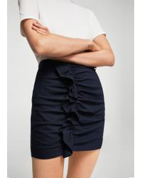 Mango - Blue Striped Pattern Skirt - Lyst