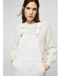 42779ed373d Lyst - Mango Pocket Denim Pinafore Dress in White