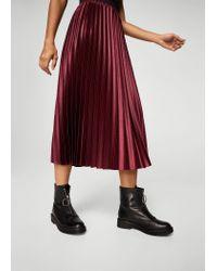 Mango - Multicolor Metallic Pleated Skirt - Lyst