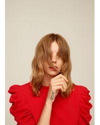 Mango | Red Puffed Sleeves Dress | Lyst
