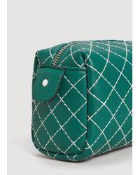 Mango - Green Contrast Seam Cosmetic Bag - Lyst
