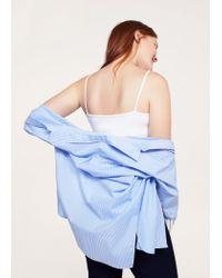 Violeta by Mango - White Essential Strap Top - Lyst