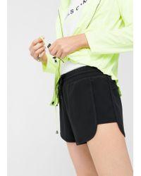 Mango - Black Lightweight Active Shorts - Lyst