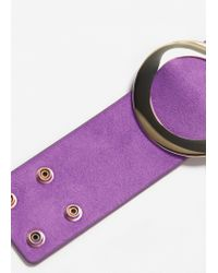 Mango - Purple Metal Appliqué Bracelet - Lyst