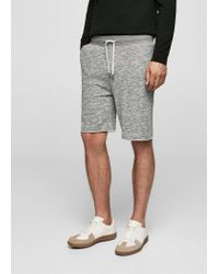 Mango - Gray Cotton Jogging Bermuda Shorts - Lyst