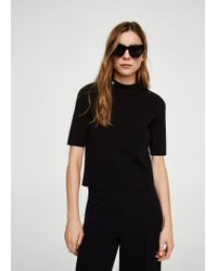 Mango - Black Sweater - Lyst