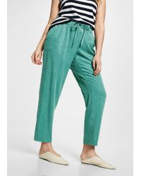 Violeta by Mango - Green Soft Baggy Trousers - Lyst