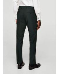 Mango - Blue Slim-fit Patterned Suit Trousers - Lyst