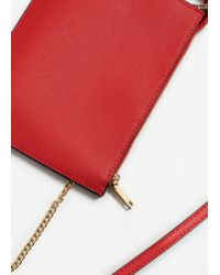 Mango - Red Saffiano-effect Cross-body Bag - Lyst