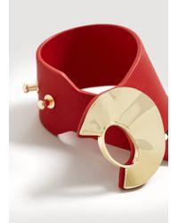 Mango - Red Metal Appliqué Bracelet - Lyst