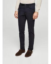 Mango - Blue Slim-fit 5 Pocket Cotton Trousers for Men - Lyst
