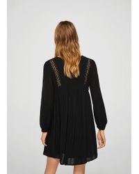 Mango - Black Dress - Lyst