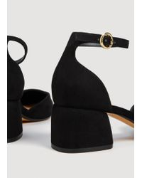 Mango - Black Ankle-cuff Pointed Toe Shoes - Lyst